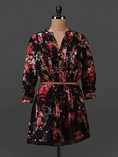 Floral Printed Polyester Tunic - Oxolloxo