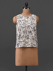 Floral Printed Polycrepe Top - Oxolloxo