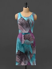 Multicoloured Printed Dress With Cut-out Back - Phenomena