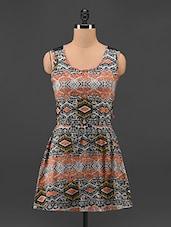 Printed Polyester Dress - Feyona