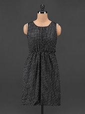 Polka Dot Printed Polyester Dress - Feyona