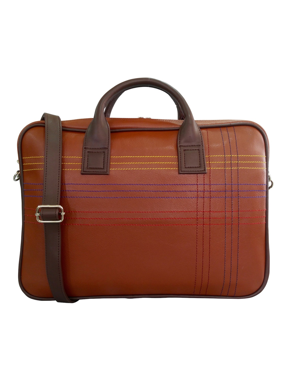 36480d704 Brown Faux Leather Laptop Bag