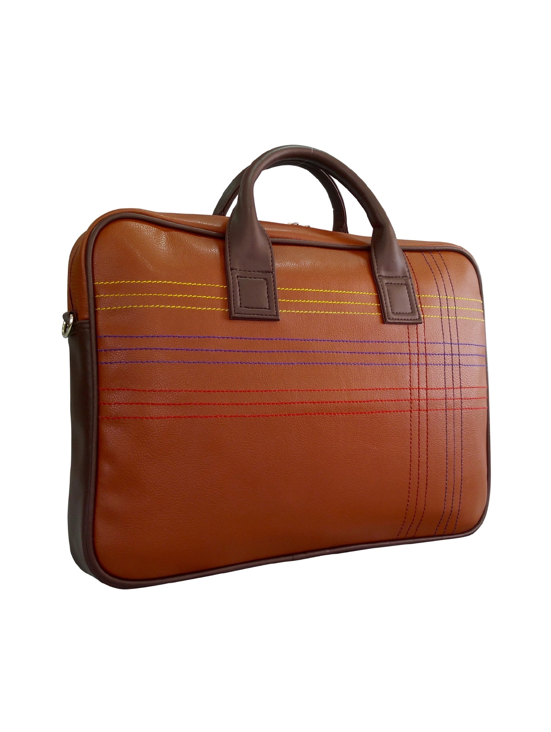Brown Faux Leather Laptop Bag By Toteteca Online Ping For Bags In India 10549501