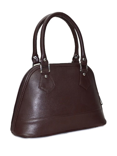 brown leatherette handbag - 10551407 - Standard Image - 1