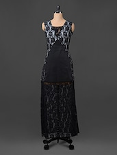 Lacy Black Floral Maxi Dress - Liebemode