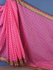 Woven Boardered Saree - Style Mania
