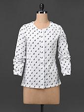 Printed Long Sleeves Polycrepe Shirt - Colbrii