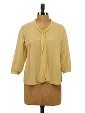 Quarter Sleeves Georgette Top - Imu