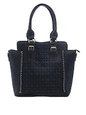 Circular Cutwork Black Handbag - SATCHEL Bags