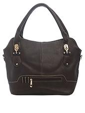 Brown Front Zipper Handbag - SATCHEL Bags