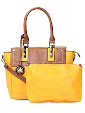 Color Block  PU Handbag - ADISA