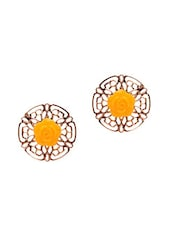 Multi Colour Brass Studs Earring - By