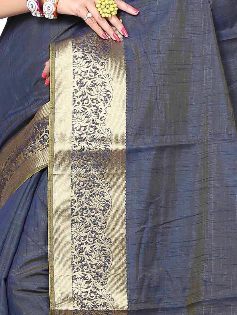 Women Blue Silk Sarees