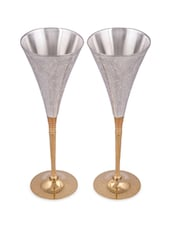 Silver Plated 2 Royal Wine Glass - Silver Splendor