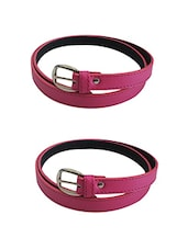 Pink Leatherette Combos Belt - By