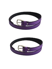 Purple Leatherette Combos Belt - By