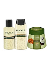 Trichup Healthy Hair Care Kit (Healthy Long & Strong Oil (200ml), Health Long & Strong Shampoo (200ml), Healthy, Long & Strong C - By