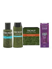 Trichup Dandruff And Frizzy Control Kit (Anti - Dandruff Oil (100ml), Anti - Dandruff Shampoo (200ml), Hair Serum (50ml), Hair P - By