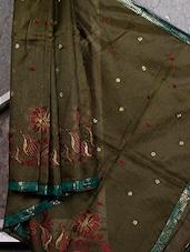 Gota Border Floral Embroidered Net Saree - JBT