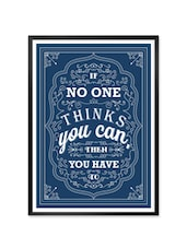 """"""" If No One … """" Quoted Framed  Poster - Lab No. 4 - The Quotography Department"""