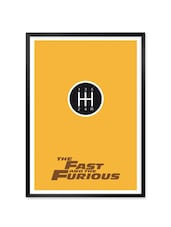 The Fast And The Furious Movie Framed Poster - Lab No. 4 - The Quotography Department