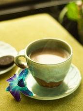 Handcrafted Ceramic Cup & Saucer Set - ExclusiveLane