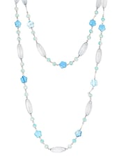 Blue Metal Alloy & Acrylic Beads Neckpieces - Art Mannia