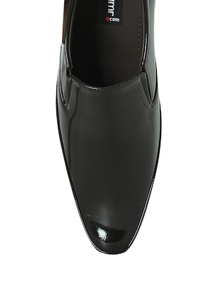 brown leatherette formal shoes - 10606449 - Standard Image - 4