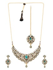 Multi Metal Alloy & Stone Pendant Set - Art Mannia