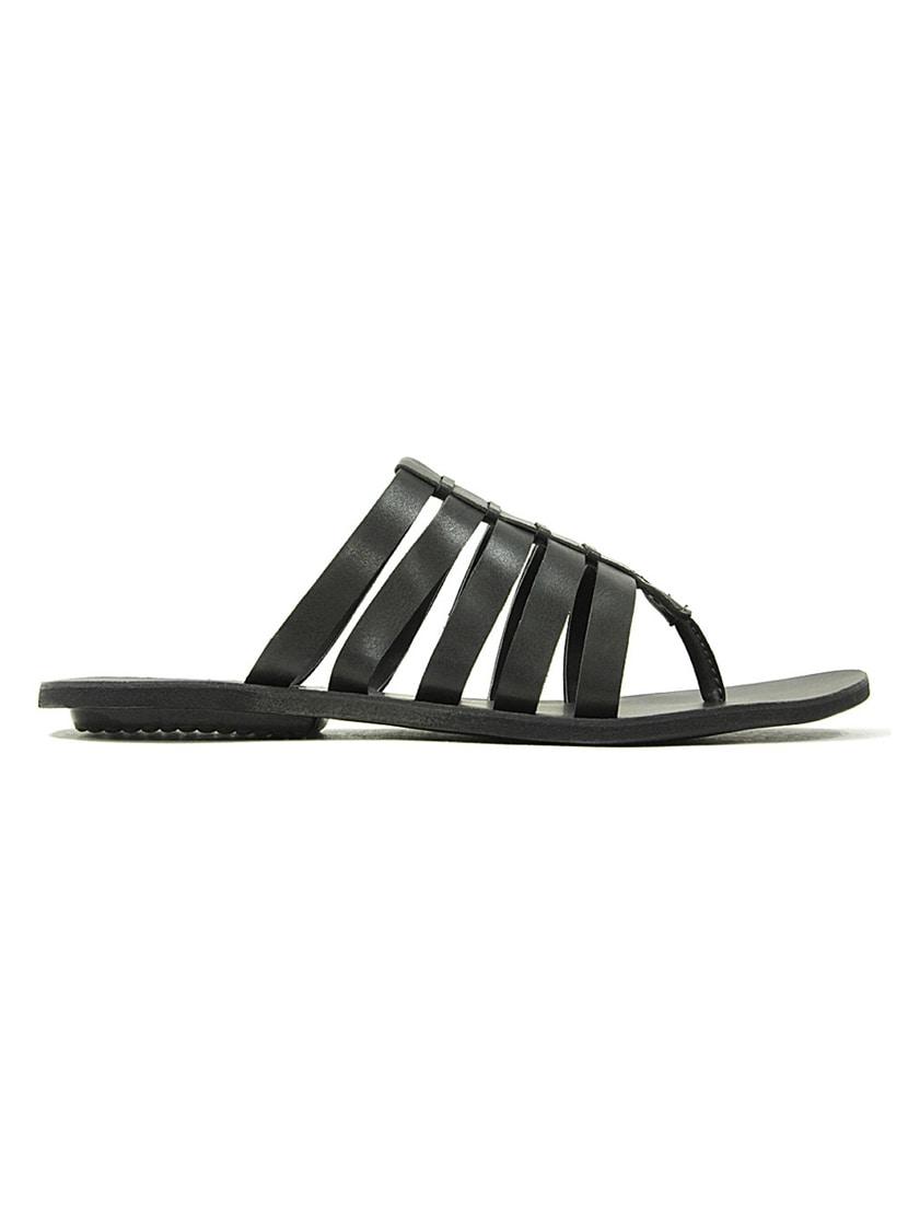 43be0fce3664 Buy Black Leatherette Slip On Flip Flops by Get Glamr - Online shopping for Flip  Flops in India