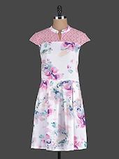 White Floral Printed Dress - Eavan