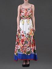 Sleeveless Floral Print Rayon Maxi Dress - Eavan