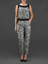 Monochrome Printed Jumpsuit -  online shopping for Jumpsuits