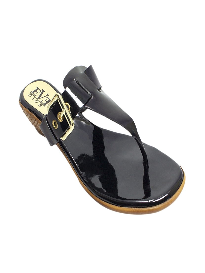 19b066a450de Buy Black Leatherette Wedge by Eve Dior - Online shopping for Wedges in  India