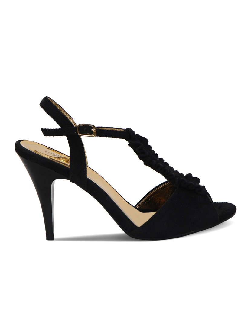 d2849e5d0c063 Buy Black Leatherette Ankle Strap Sandals for Women from Flora for ₹1549 at  38% off | 2019 Limeroad.com