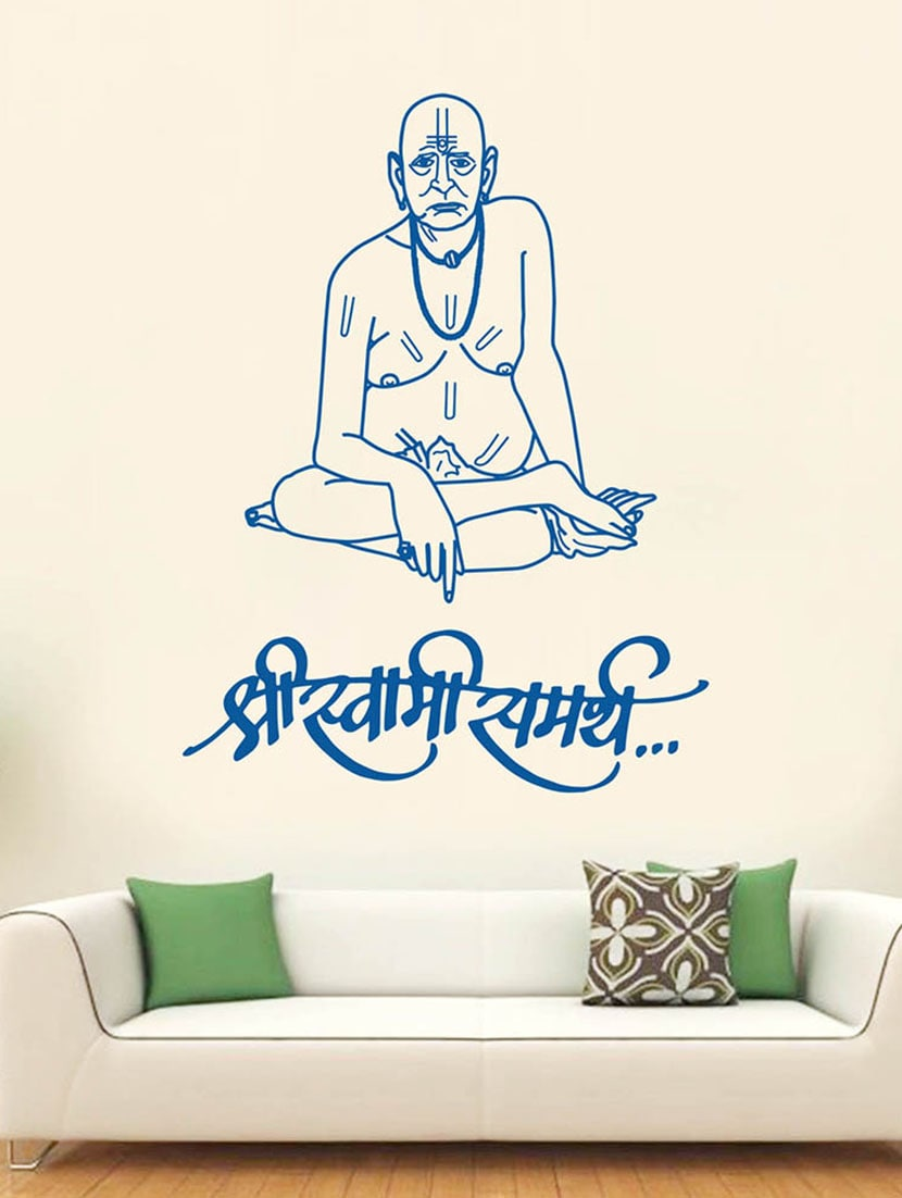 e6009d17cb4 Buy Hoopoe Decor Shree Swami Samarth Wall Stickers And Decals for Unisex  from Hoopoe Decor for ₹731 at 33% off