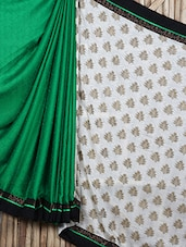 Leaves Printed Half & Half Saree - Siya