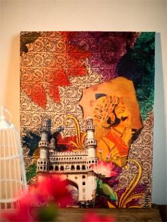Celebrating Hyderabad Wall Art - TUNGS10