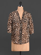 Animal Print Polyester Top - Trend 18