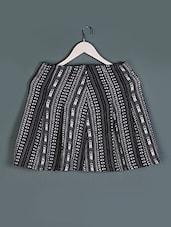 Aztec & Monchrome Printed Cotton Skirt - Femella