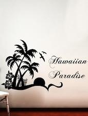 """ Hawaiian Paradise "" Wall Sticker - Creative Width Design"