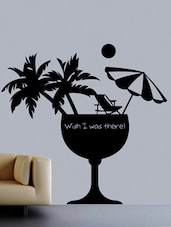 """"""" Wish I Was There """" Wall Sticker - Creative Width Design"""