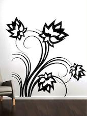 Floral Design Wall Sticker - Creative Width Design