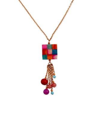 multi color alloy necklace -  online shopping for Necklaces