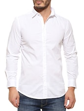 Pepe jeans white Cotton casual shirt  -  online shopping for casual shirts