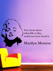 Marilyn Monroe Quote Wall Sticker - Creative Width Design
