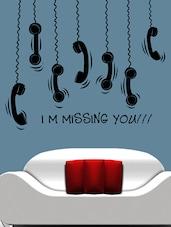 """ I M Missing You !! "" Wall Sticker - Creative Width Design"
