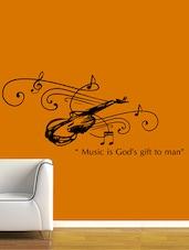 """ Music Is … To Man "" Wall Sticker - Creative Width Design"