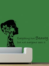 """"""" Everything Has … Sees It """" Wall Sticker - Creative Width Design"""