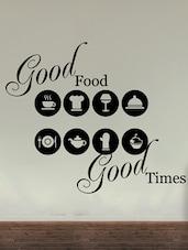 """ Good Food Good Times "" Wall Sticker - Creative Width Design"
